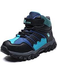 WOWEI Zapatos de Senderismo Niños Al Aire Libre Impermeable Antideslizantes Invierno Trekking Botas de Nieve Sneakers 36-47 EU