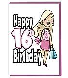 Glamour Girl zum 16. Geburtstag–Mädchen–Teenager–Tochter–Geburtstagskarte für Enkelin–Schwester–Freund
