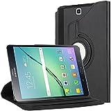 """Etui Samsung Galaxy Tab S2 9.7, Bingsale 360° Housse en cuir pour Samsung Galaxy Tab S2 Tablette tactile 9,7"""" (24,64 cm) avec rabat/stand de positionnement support et le sort de veille(Tab S2 9.7, noir)"""