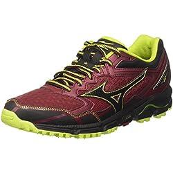 Mizuno Wave Daichi, Zapatillas de Running para Hombre, Multicolor (Bikingred/Black/Limepunch), 44 EU
