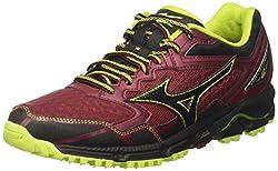 Mizuno Men's Wave Daichi Running Shoes, Multicolor (Bikingredblacklimepunch), 9 Uk