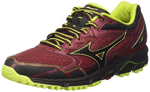 Mizuno Wave Daichi, Chaussures de Running Homme Multicolore (Bikingred/black/limepunch)