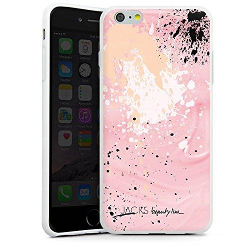 Apple iPhone X Silikon Hülle Case Schutzhülle Farbklecks Muster Bunt Silikon Case weiß