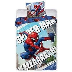 REGALITOSTV tobilleros Housse de Couette Réversible + 1taie d'oreiller Spiderman pour lit Individuel de 90 Spiderman 007