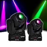 Pack 2Scheinwerfer RGB pixy-3010W Cree LED 7Farben, Gobo, Strobo,, DMX lytor