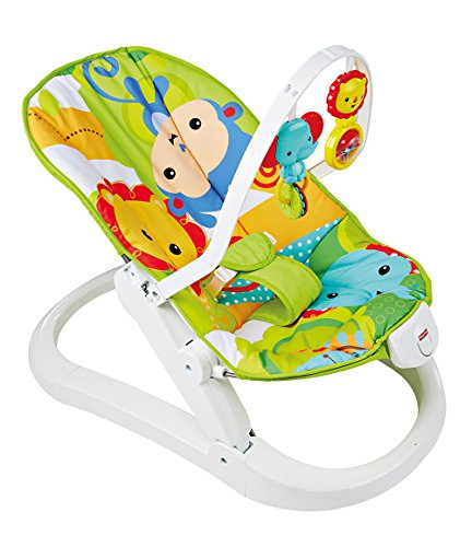 Fisher-Price Hamaca Plegable animalitos de la Selva, Hamaca para bebé...