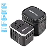 [Upgrade]Worldwide Travel Adapter, Delicacy Universal International Power Adaptor Travel Charger with 4 USB