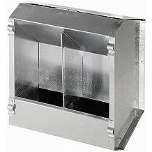 Comedero automático para conejos de metal, 2 huecos, ...