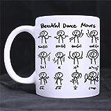 eureya weiße Tasse Keramik Kaffee/Tee/Milch Tasse Becher 312, Beautiful Dance Moves