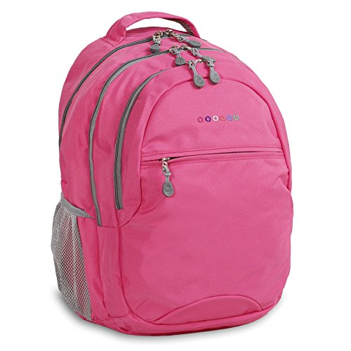 J World New York Cornelia Laptop Backpack Sac à Dos Loisir, 19 cm, 29.5 liters, Multicolore (Pink)