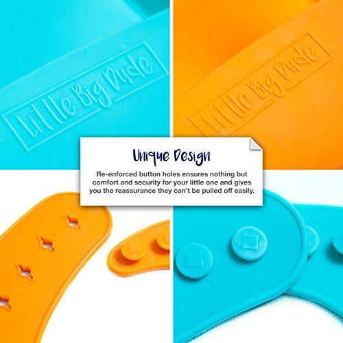 Baberos de silicona para bebé: ¡el babero de The Last Baby que necesitarás!   Los 2 paquetes de baberos de silicona reutilizables súper blandos son fáciles de lavar  compactos para un fácil almacenamiento y de larga duración.