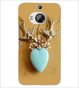 PrintDhaba Heart D-2264 Back Case Cover for HTC ONE M9 PLUS (Multi-Coloured)