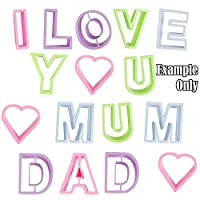 I Love You Mum Dad Cookie Cutters Set! Mothers Fathers Day Cutters
