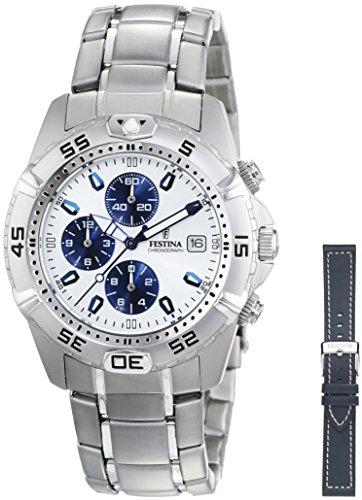 FESTINA Sport 16169/2 - Reloj unisex de cuarzo, correa de acero inoxidable color plata