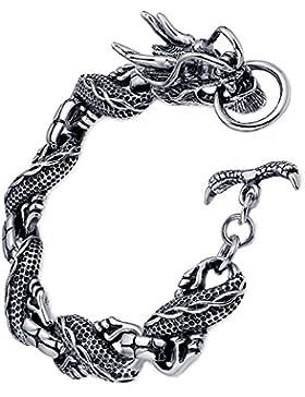 Arco Iris Schmuck Edelstahl Herren Armband, Drachen, Motorradfahrer, 21cm - G6006qy