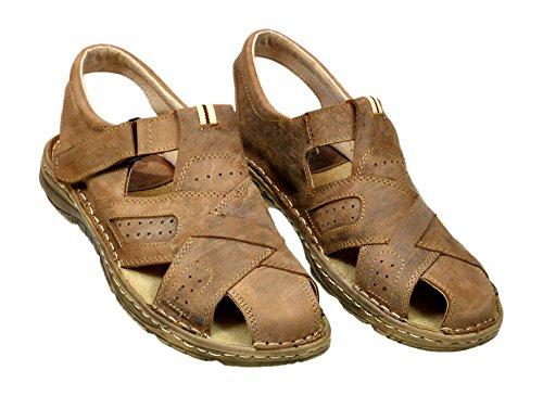 905397187c504 ... Chaussures Confortables Une Forme Orthopedique Des Sandales En Cuir  Naturel De Bison Pour Homme Modele 867 ...