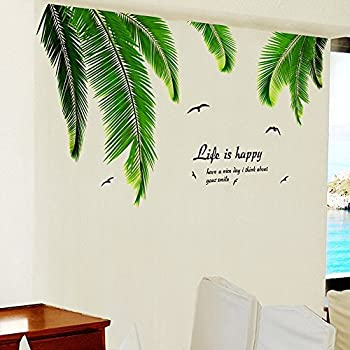Iwallsticker Palm Tree Decals Tree Wall Stickers For Wall Decorations  60x90cm Part 52