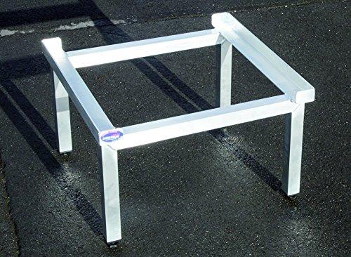 Waschmaschinen Komfort Untergestell / Mara 1 / Verstärkte Aluminium - Ausführung / rostfrei / höhenverstellbare Füße / Unterbau für Trockner oder Waschmaschine /