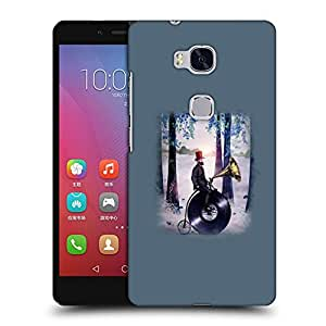Snoogg Man On Gramophone Designer Protective Back Case Cover For HUAWEI HONOR 5X