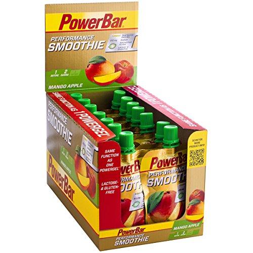 Performance Smoothie aus Fruchtpüree – Mit Kohlenhydraten, Maltodextrin & Natrium – Energie Gels ohne Konservierungsstoffe – Vegan – Mango Apfel 16 x 90 g