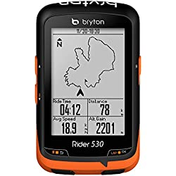 Bryton Rider 530T GPS Ciclismo, Negro/Naranja, Talla Única