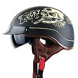 Ankunft Harley Style Motorrad Helm Professional Moycle Helm Waschbar Liner und Dot Sicherheitsstandard Mat Skull Lucky XL