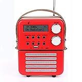 Mini-DAB-Digitalradio und FM, Bluetooth und USB Play, Timer-Funktion und Wecker-Set mit Wiederaufladbar Batterie (16 * 12 * 7.5 cm)