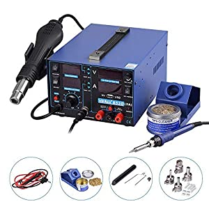 Yihua estacion de soldadura digital SMD Kit del Soldador Eléctrico con