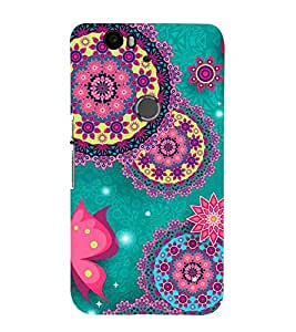 For Huawei Nexus 6P :: Huawei Google Nexus 6P decorative design, vintage decorative elements Designer Printed High Quality Smooth Matte Protective Mobile Case Back Pouch Cover by APEX
