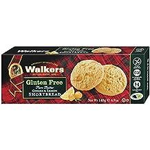 Walkers Shortbread Postre con Jengibre y Limón sin Gluten - 4 Paquetes de 1 x 140
