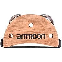 ammoon Caja Elíptica Cajon Accesorio Drum Companion Tamboril de Jingle de Pie para Instrumentos de Percusión Manual