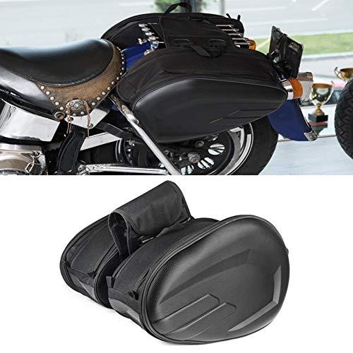 607549b441 Alforjas para Motocicletas, Bolsa de sillín para motocicleta Resistente al  agua Impermeable PU Tela.