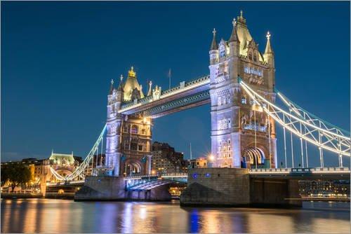 Poster 60 x 40 cm: Tower Bridge, London von Markus Ulrich - hochwertiger Kunstdruck, neues Kunstposter