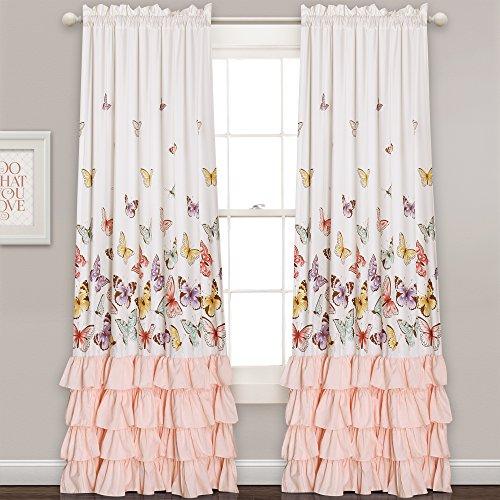 Lush Decor Fenster Vorhang Panel Paar Set, Pink, 213,4x 132,1cm