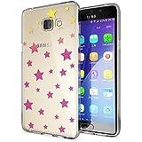 Samsung Galaxy A5 2016 Coque Protection de NICA, Housse Motif Silicone Portable Premium Case Cover Transparente, Ultra-Fine Souple Gel Slim Bumper Etui pour A5-16, Designs:Stars