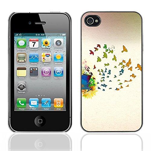 Graphic4You Leaves Falling From Tree Autumn Theme Design Harte Hülle Case Tasche Schutzhülle für Apple iPhone 4 und 4S Design #16
