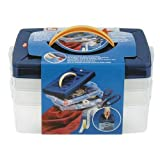 Prym 42120 Boîtes de Rangement superposables, 24 x 16,5 x 14 cm, Plastique, Transparent