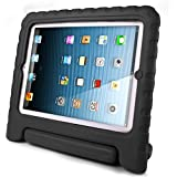 iPad Case for kids, SAVFY Shockproof Case Light Weight Kids Case Super Protection Cover Handle Stand Case for Kids Children for Apple iPad 4, iPad 3 & iPad 2 2nd 3rd 4th Generation (Black)