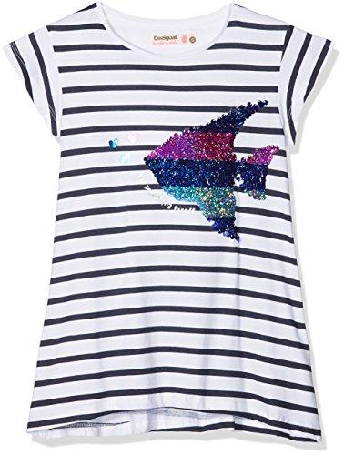 Desigual Mädchen T-Shirt TS_Saskatchewan, Blau (Marino 5001), 140 (Herstellergröße: 9/10) (T-shirt Marine-blau-mädchen)