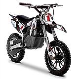 Funbikes Black Kids Dirt Bike – Childrens Electric Motorbike Mini Motocross Scrambler