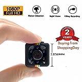 1080P Mini Cam Surveillance Cámara LXMIMI Portable HD Nanny Web Cam con Visión Nocturna y Detección de Movimiento Para Home/Office Indoor/Outdoor Security Cámara con Lector de Tarjetas