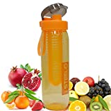 #9: Fruit Infuser Water Bottle Infusion BPA Free Transparent Plastic Sport Outdoor Detox Drink Juice Bottle Pack of 1 (Color May Vary) 750 ML Sports Water Bottle FREE BOTTLE CLEANING BRUSH