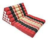 Rosso e nero del modello tradizionale Jumbo Un Cuscino tailandese Fold