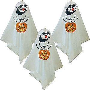 Gifts 4 All Occasions Limited SHATCHI-446 - Globos decorativos para colgar en Halloween, color blanco
