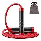 STRLONG Gewichtetes Springseile Speed Rope Verstellbare Schweres Seilspringen für Training,...