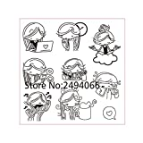 Happy Girl Scrapbook DIY Foto Karten Gummi Stempel Clear Stamp transparent Stempel 10 x 10 cm ap783102