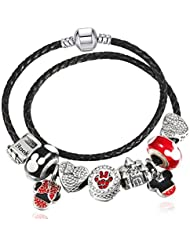 8208d1bfd529 QWERST Bracelet Moda Cartoon Microesferas De Vidrio Charm Bracelet para  Mujeres con Fino Brazalete Jewelry 16Cm