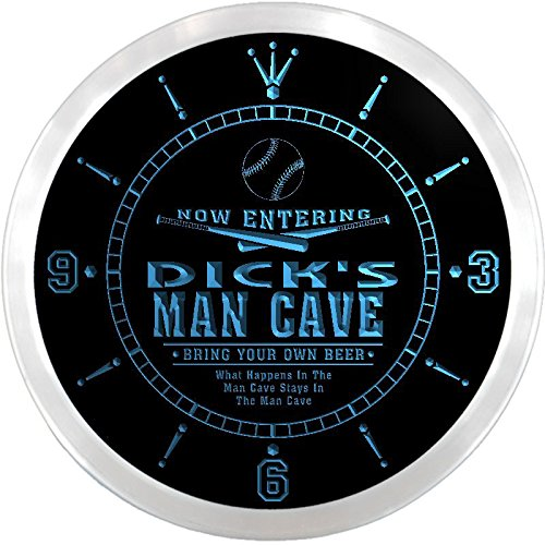 ncqb0714-b-dicks-baseball-man-cave-bar-beer-den-led-neon-sign-wall-clock