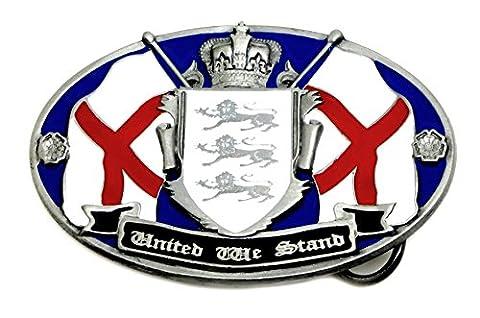 Gürtelschnalle England vereinigt stehen wir Kreuz von St. George 3 Löwen & Krone Englische Patriot Authentische Dragon Designs (George Englische Flagge)