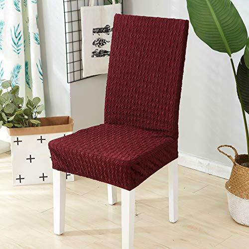 Happymxwx ufficio lavorato a maglia 40 * 50 rosso vino,coprisedie con schienale elasticizzato stampa floreale vestisedia moderno universale fodera per sedie copertura della sedia sala da pranzo